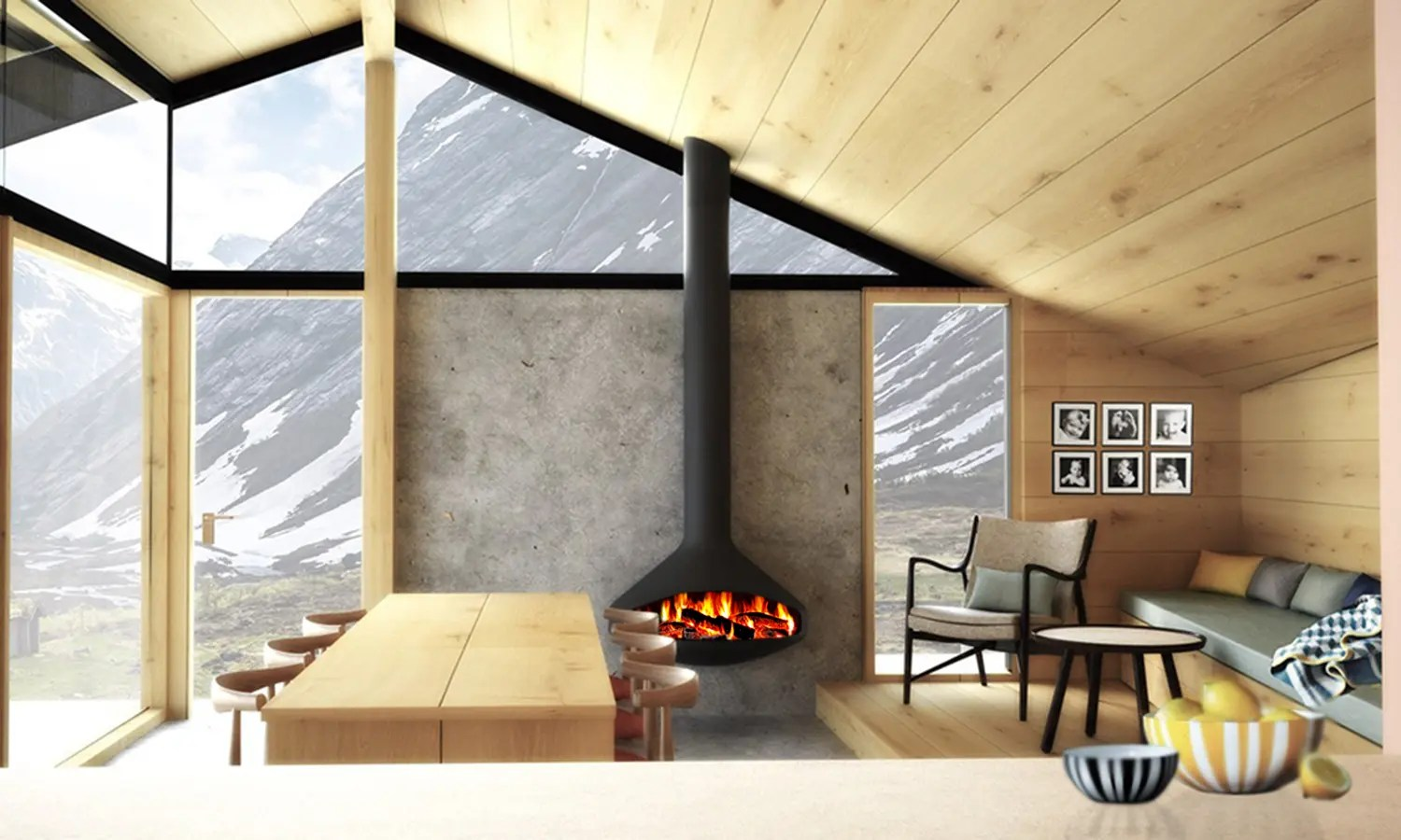 Efficiency Of Gas Fireplaces Paxfocus By Focus Fires | Modern Wall Mounted Wood Fireplace