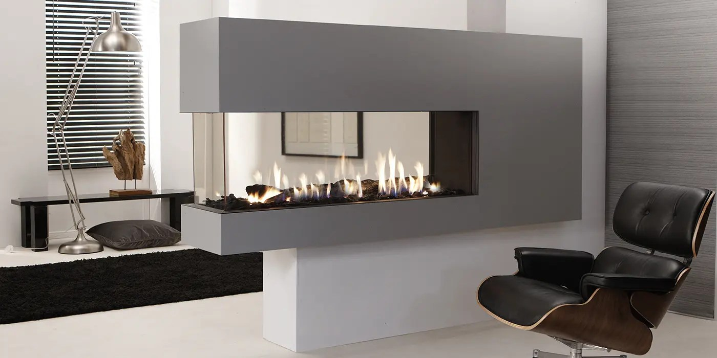 Peninsula Gas Fireplace Lucius 140 Room Divider By Element4 | Penninsula Fireplace