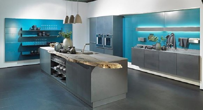 Alno Stainless steel kitchen fronts