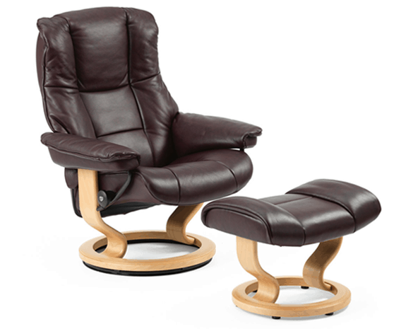 Stressless Mayfair Recliner with Ottoman M  Lowest Prices