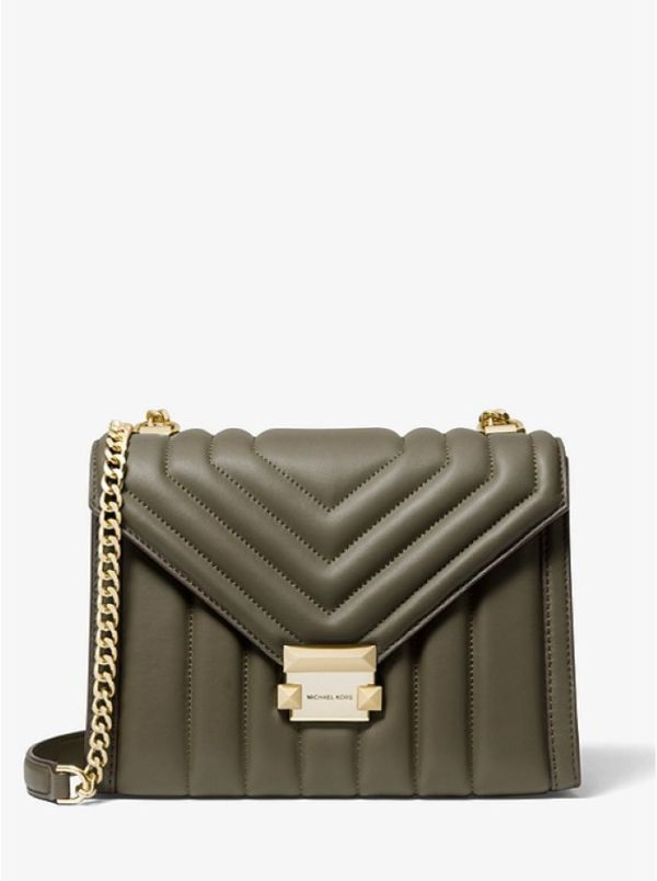 Michael kors 30F8GXIL3T whitney large quilted leather convertible shoulder bag