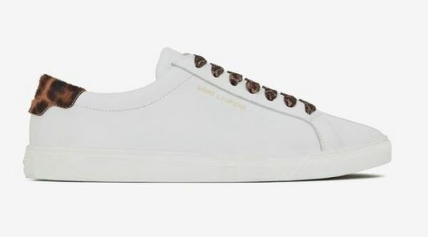 SAINT LAURENT 582401 ANDY SNEAKERS IN SMOOTH LEATHER WHITE