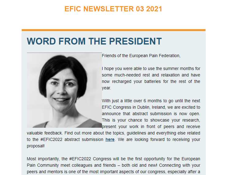 A new EFIC Newsletter is available!