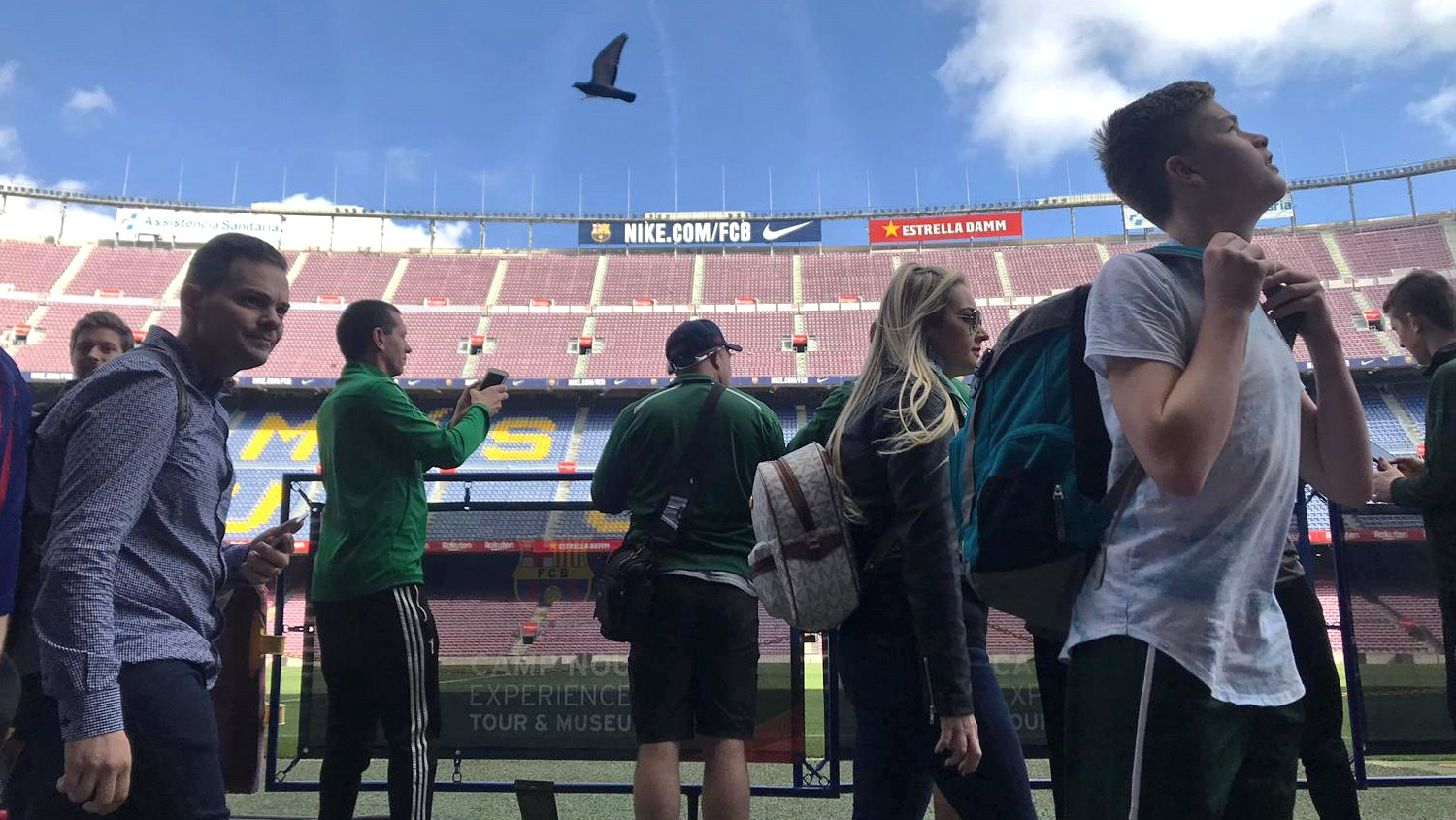 Touring Camp Nou in Barcelona