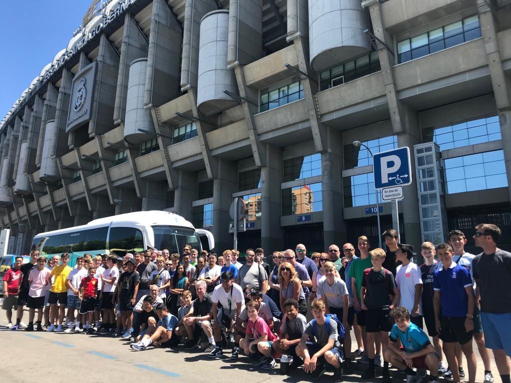 Visiting Estadio Santiago Bernabéu in Madrid