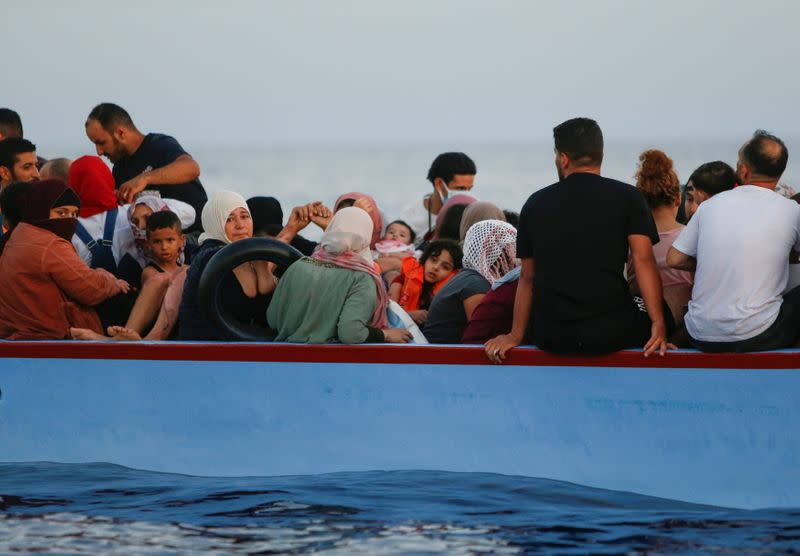 German Rights Org NGO Rescues 100 migrants in the Mediterranean