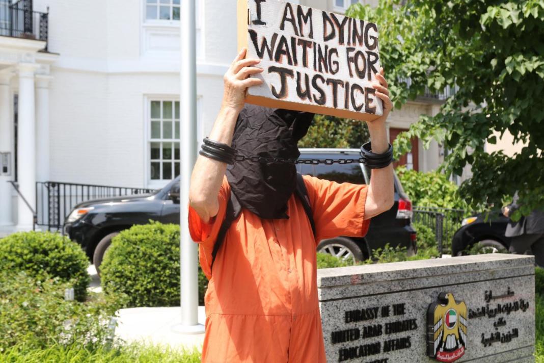 Protest Outside UAE Embassy in Washington Over Russian Prisoner