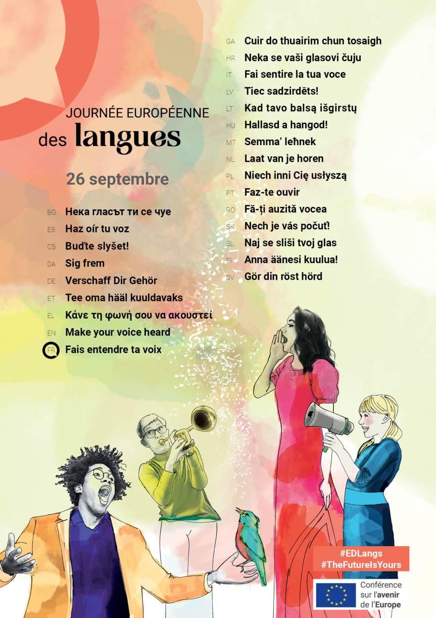 Collèges et lycées, participez à la dictée multilingue de la Commission européenne 2021!
