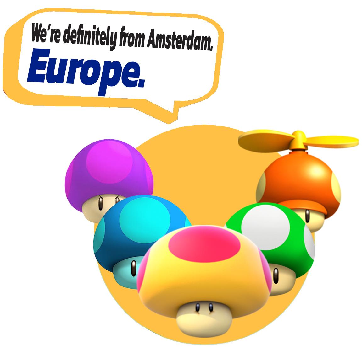 European Characters -mushrooms