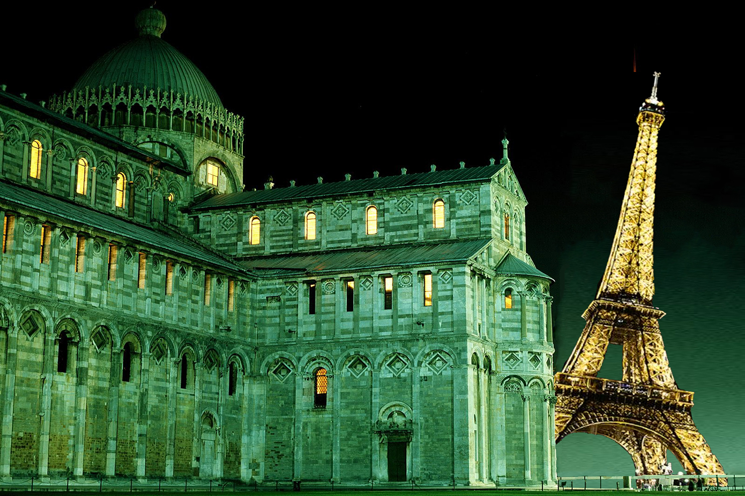 What if Eiffel Tower were in Pisa