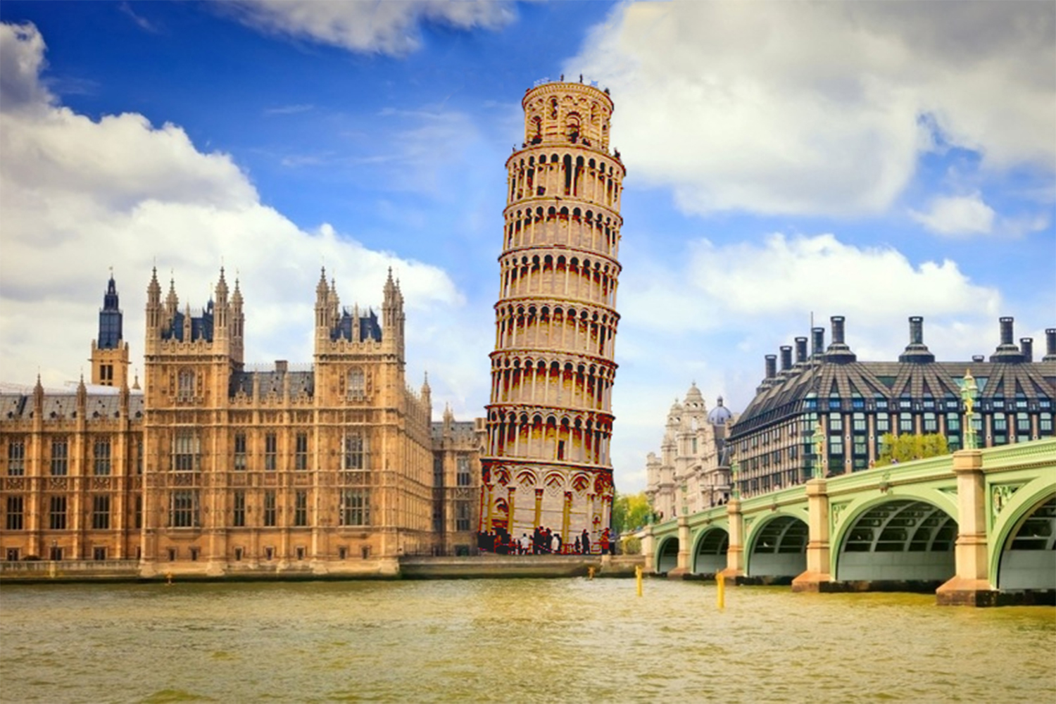 What if Pisa Tower were in London2