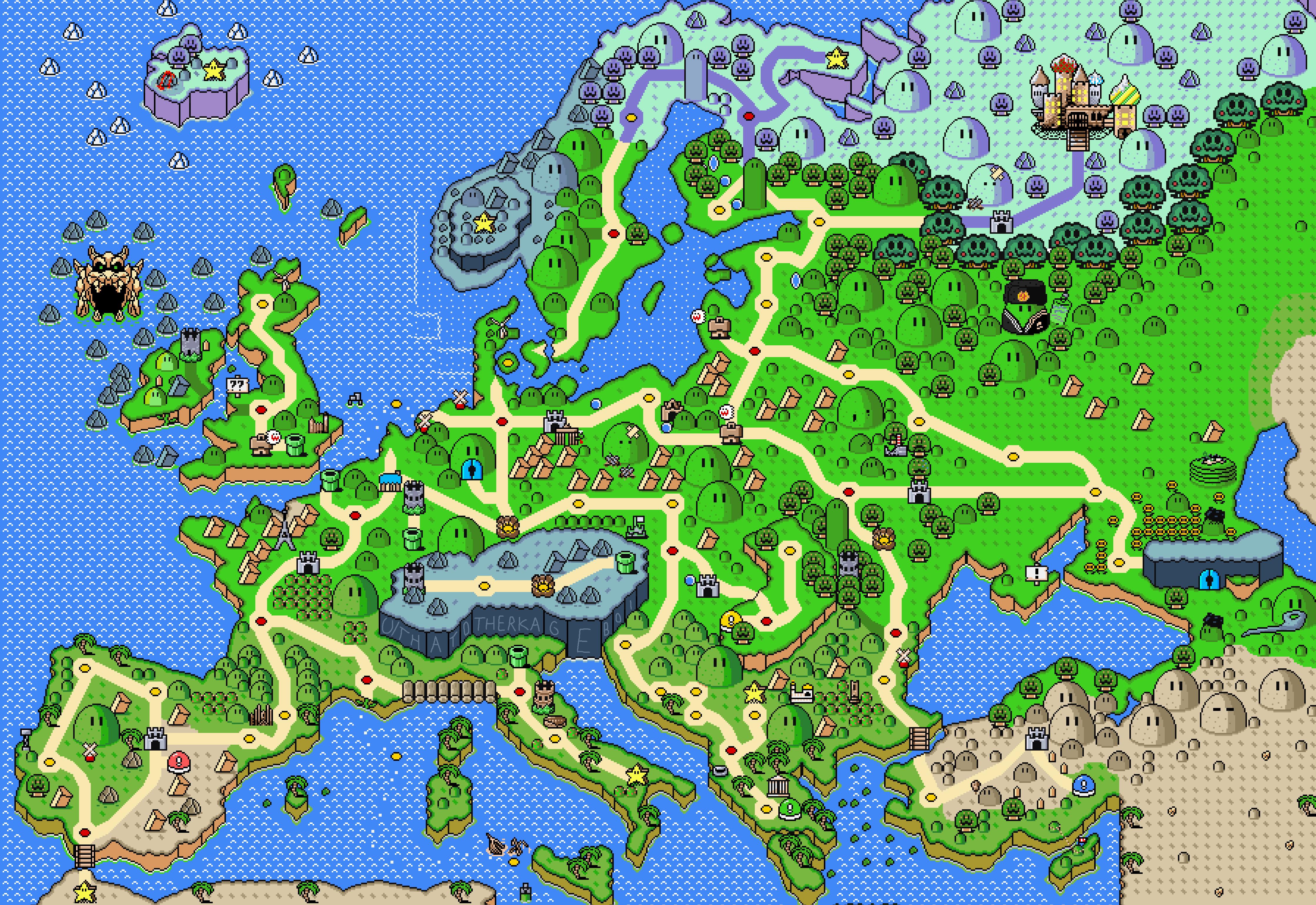 European Map of Super Mario