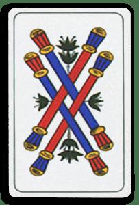 Italian-Suited Playing Cards - Bastoni - Batons