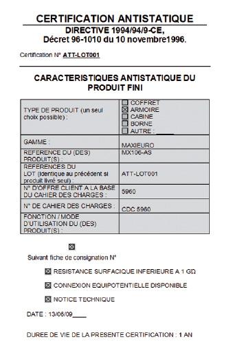auto certificat définitif