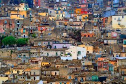 Sight view of a town in Sicily, Italy