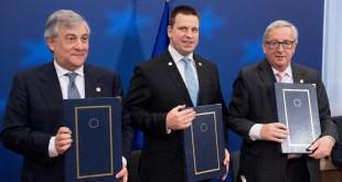 Juncker, Ratas, Tajani