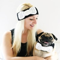 Bow Tie Headband and Dog Collar Set