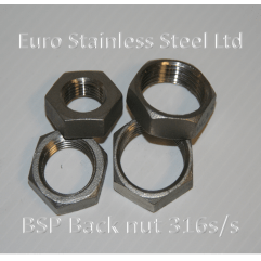 "BSP Backnut / Locknut 1/4"" to 4"" 316s/s"