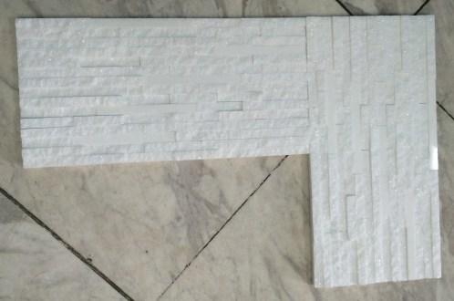 Thassos White Marble Splitface Tiles Mosaic Eurostone Houston