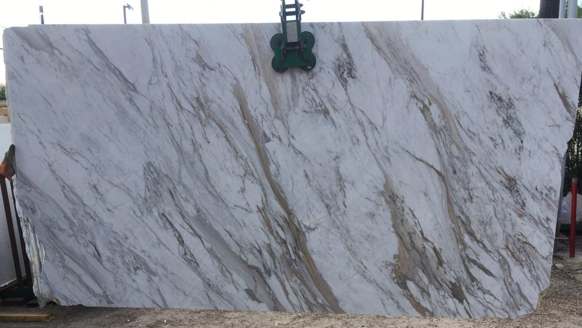 Volakas White Natural Marble Slab large Eurostone Houston