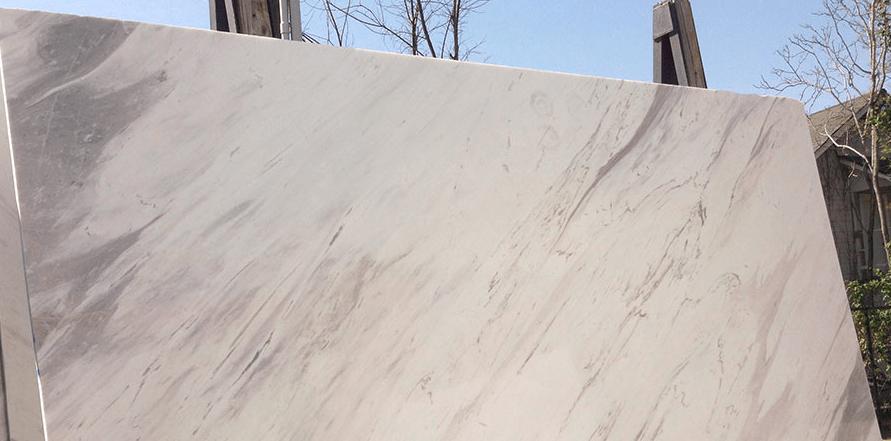 Olympus White Marble Slab Eurostone Houston