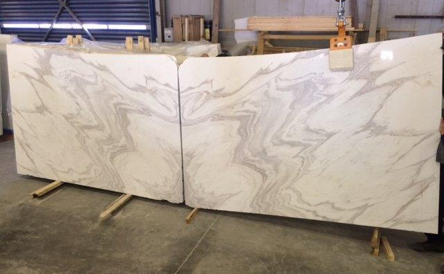 Book Matched Olympus Marble Slabs Eurostone Houston