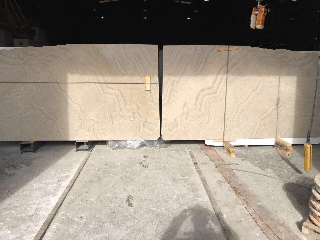 Venetian Beige Honed Marble Slabs Book Matched