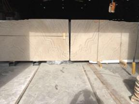 Venetian Beige Honed Marble Slabs Book Matched
