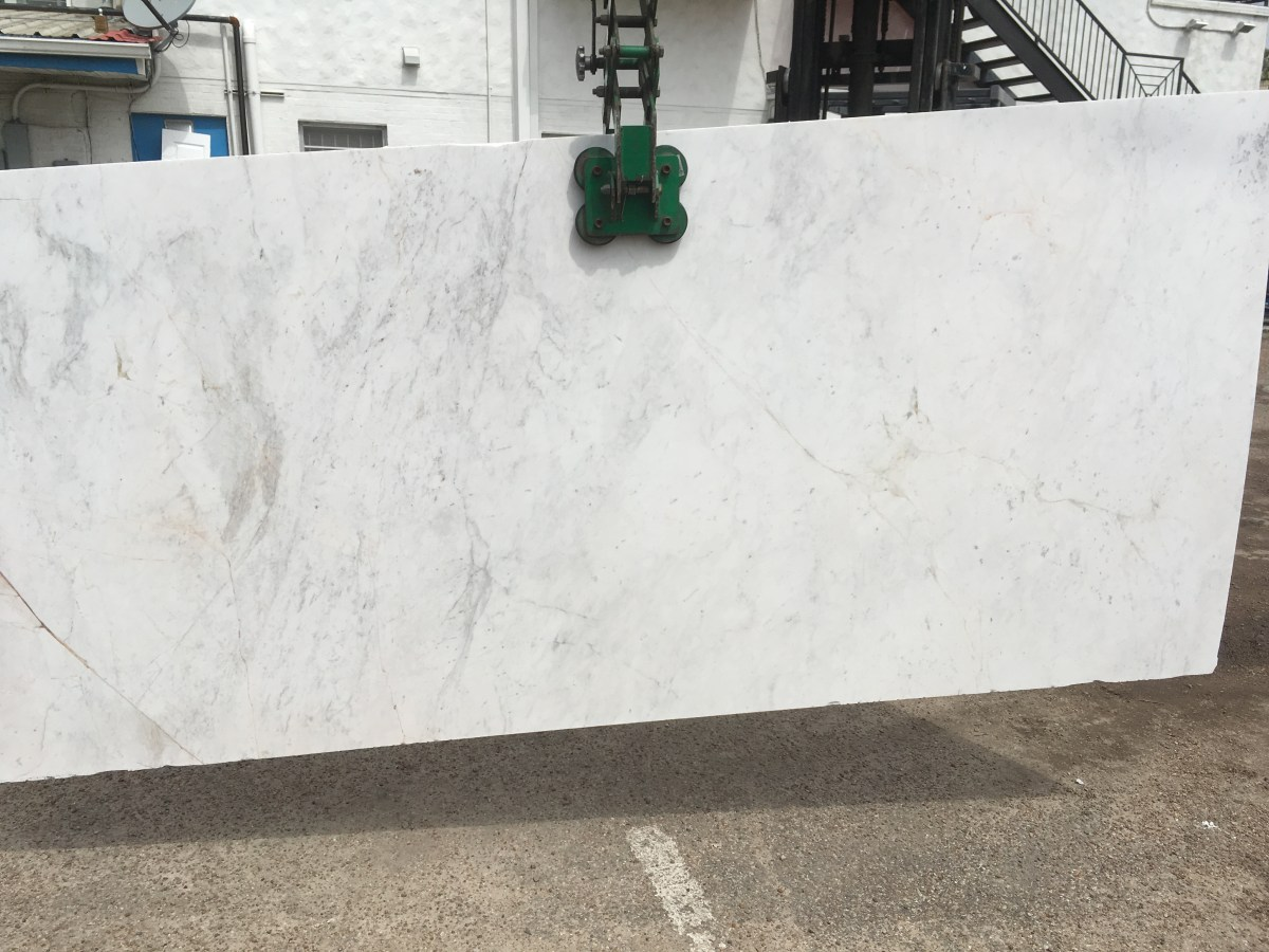 Olympus White Natural Greek Marble large slab Eurostone Houston