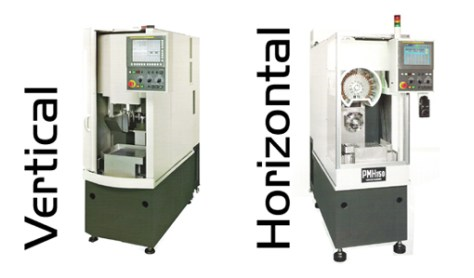 The PM 150 H incorporates the same features as the vertical machine but it does offer a horizontal spindle. The first market covered by VFM with this machining concept which incorporates the benefits of transfer machines and small machining centres is watch industry, but many other areas are interested.