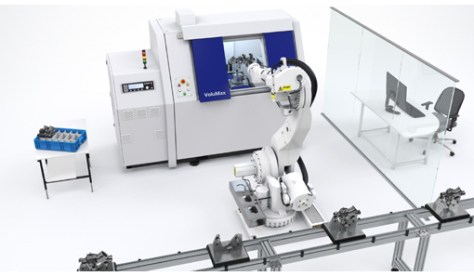 Fully automated 3D workpiece testing: the inline computer tomography utilises automatic robot placement for optimum integration into production lines. Photo: Zeiss, Oberkochen.