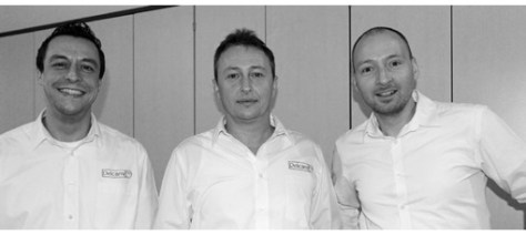 The first three staff at the new Delcam GmbH office – (left to right) Marcus Warga and Michael Binder, Applications Engineers, and Branch Manager Jens Heilig.