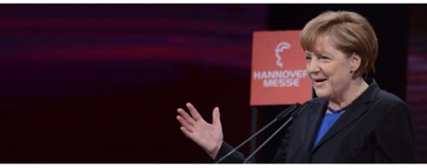 Dr. Angela Merkel, Chancellor of the Federal Republic of Germany, speaks at the Opening Ceremony of Hannover Messe.