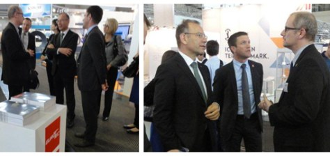 MM Hannes Germann, President of the Council of States, Pascal Blanc, Head of trade fairs, Switzerland Global Enterprise and Eurotec's Editor in Chief.
