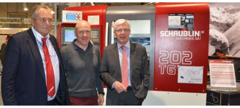 From left to right: Rolf Muster, Director of Schaublin Machines, Didier Cuche, Swiss Ski Champion and Francis Koller, Director of Siams.