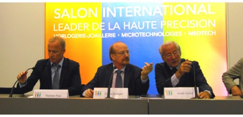 From Left to right, Stephan Post and the two founders, Olivier Saenger and André Colard.