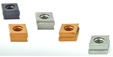 The sintered tangential indexable inserts with four cutting edges are particularly cost-effective in roughing and semi-finishing applications.
