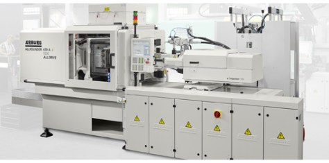 The electric Allrounder 470 A presented at the Medtec Europe 2015 is specially equipped for processing LSR and use in the medical technology sector.