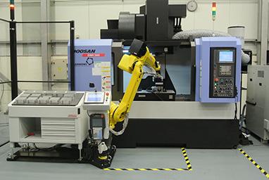 Robojob Mill-Assist E at Doosan