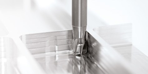 The new high-performance milling cutters OptiMill-SPM can be used with unmatched feed rates.