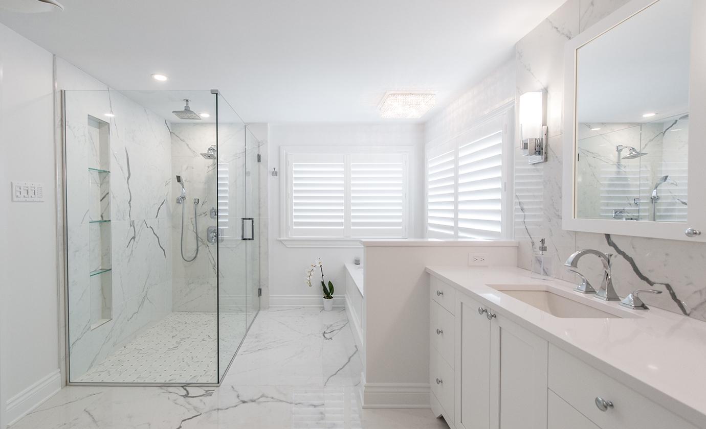 Marble Look Artium Design Build Bathroom