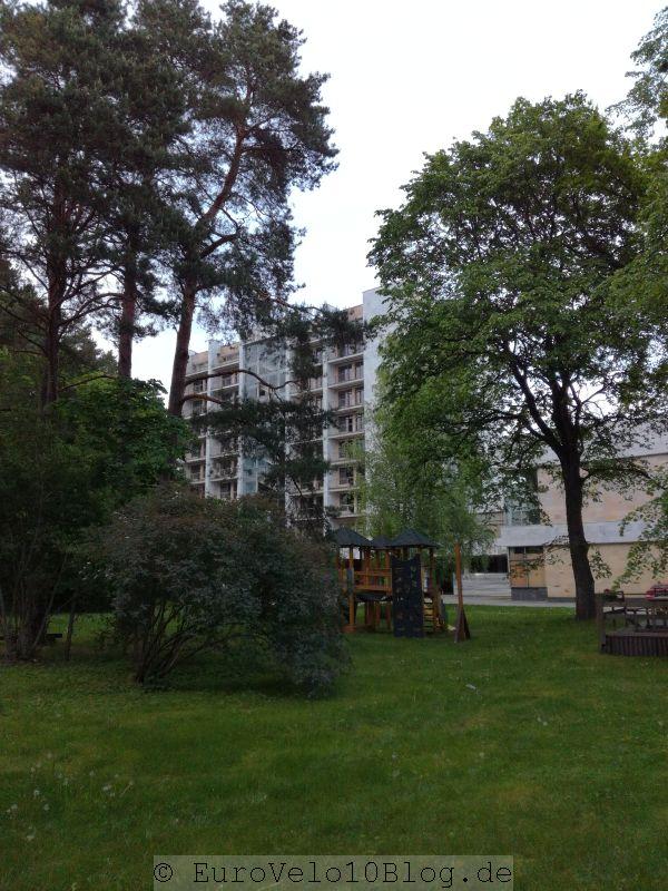Diese Kulisse bildet den krönenden Abschluss zum Campingplatz Jürmalaa