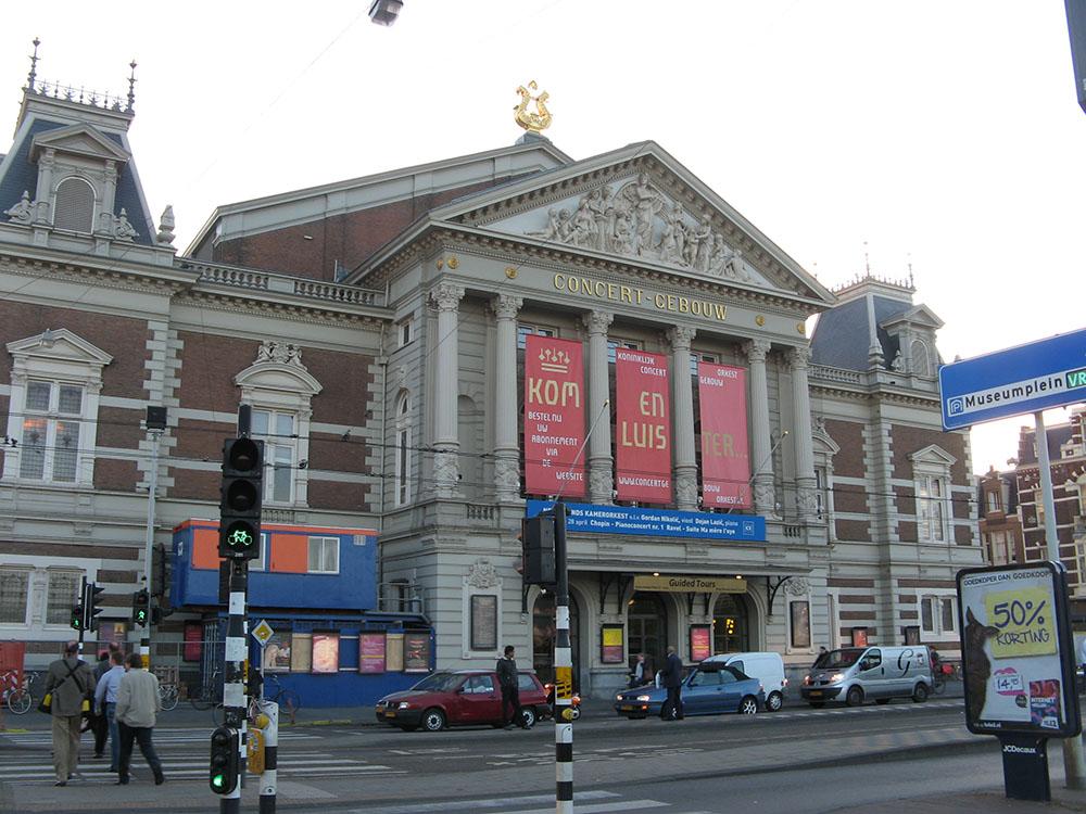Concertgebouw en Ámsterdam