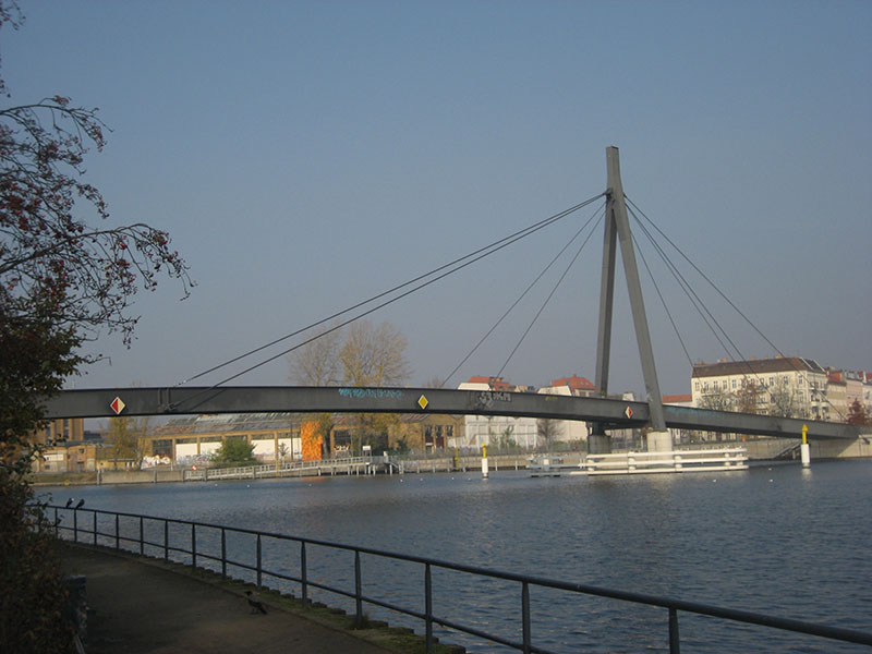 Kaisersteg Bridge in Berlin