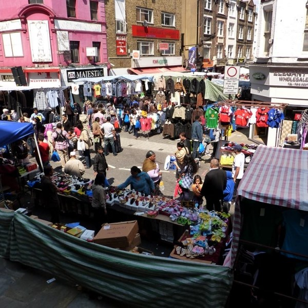 Mercadillo Petticoat Lane de Londres