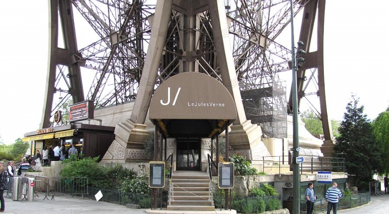 Restaurante Le Jules Verne en la Torre Eiffel en París