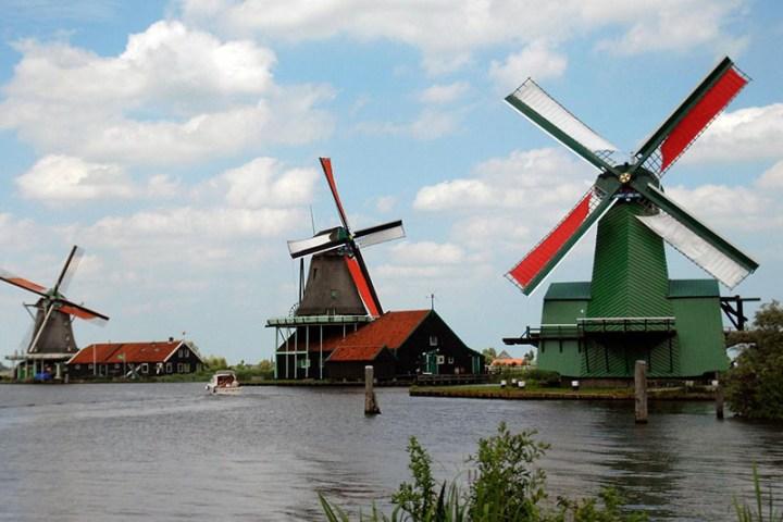 Zaanse Schans, molinos de viento en Ámsterdam