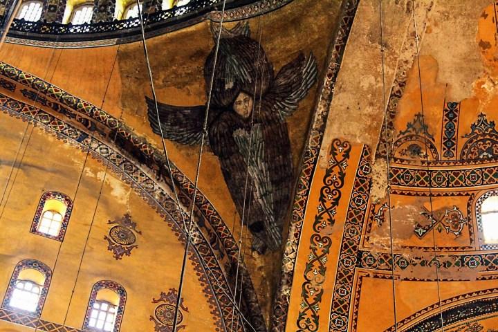 Mosaico de los serafines en Santa Sofía
