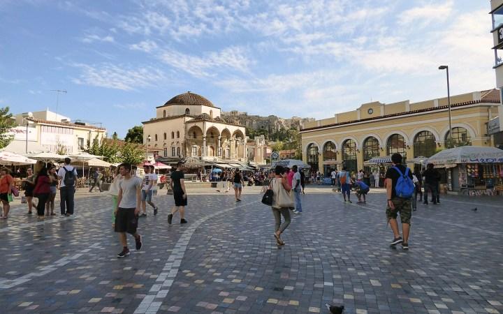 Compras en Monastiraki Atenas