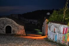 Berati castle by night